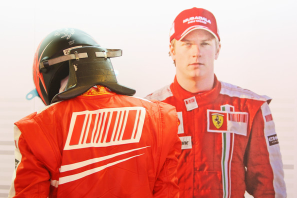 Kimi Raikkonen of Finland and Ferrari prepares to drive during the final practice session prior to qualifying for the Hungarian Formula One Grand Prix at the Hungaroring on July 25, 2009 in Budapest, Hungary.