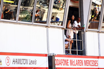 Nicole Scherzinger Anthony Hamilton F1 Grand Prix of Monaco - Qualifying