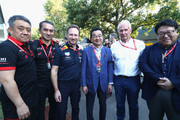 Christian Horner and Katsuhide Moriyama Photos Photo