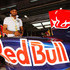 Harbhajan Singh Photos - Indian cricketer Harbhajan Singh is seen in the Red Bull Racing garage before the Indian Formula One Grand Prix at the Buddh International Circuit on October 30, 2011 in Noida, India. - F1 Grand Prix of India