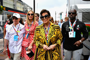 Kris Jenner, Corey Gamble, Tommy Hilfiger and Dee Ocleppo in the Paddock before the Monaco Formula One Grand Prix at Circuit de Monaco on May 27, 2018 in Monte-Carlo, Monaco.