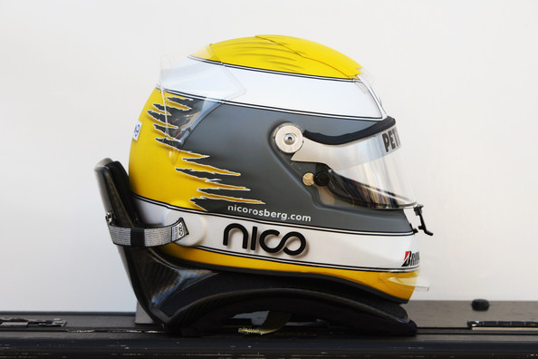 The drivers helmet of Nico Rosberg of Germany and Mercedes GP is seen during winter testing at the Circuito De Jerez on February 12, 2010 in Jerez de la Frontera, Spain.