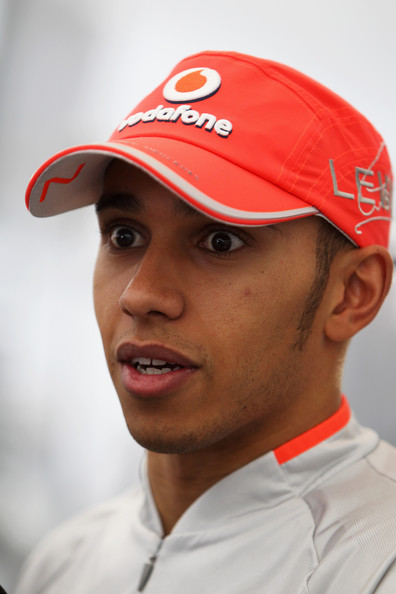 Lewis Hamilton of Great Britain and McLaren Mercedes is interviewed in the paddock following Formula One winter testing at the Circuit De Catalunya on February 26, 2010 in Barcelona, Spain.