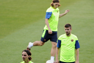 Lionel Messi Zlatan Ibrahimovic FC Barcelona - Press Conference & Training