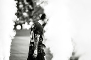 This image has been converted to black and white) Lionel Messi of FC Barcelona walks onto pitch prior to the Joan Gamper trophy friendly match between FC Barcelona and Arsenal at Nou Camp on August 04, 2019 in Barcelona, Spain.