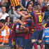Alexis Sanchez Photos - Alexis Sanchez of FC Barcelona is mobbed by team mates after scoring the opening goal during the La Liga match between FC Barcelona and Club Atletico de Madrid at Camp Nou on May 17, 2014 in Barcelona, Spain. - FC Barcelona v Club Atletico de Madrid - La Liga