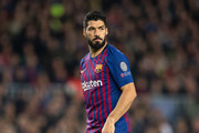 Luis Suarez of Barcelona seen during the UEFA Champions League Quarter Final second leg match between FC Barcelona and Manchester United at Camp Nou on April 16, 2019 in Barcelona, Spain.