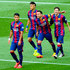 Lionel Messi Xavi Hernandez Photos - (L-R) Rafinha, Neymar, Xavi Hernandez and Lionel Messi of FC Barcelona celebrate after Messi scored the opening goal during the La Liga match between FC Barcelona and RC Deportivo de la Coruna at Camp Nou on May 23, 2015 in Barcelona, Spain. - Lionel Messi and Xavi Hernandez Photos - 2 of 135