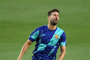 Gerard Pique of Barcelona reacts as he warms up ahead of the UEFA Champions League round of 16 second leg match between FC Barcelona and SSC Napoli at Camp Nou on August 08, 2020 in Barcelona, Spain.