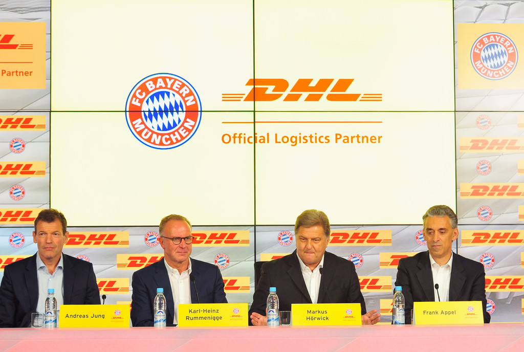 fc bayern muenchen and dhl unveil partnership 9 of 9 zimbio. Black Bedroom Furniture Sets. Home Design Ideas