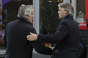 FC Internazionale Milano coach Roberto Mancini (R) shakes hands with Bologna FC coach Roberto Donadoni (L) before the Serie A match between FC Internazionale Milano and Bologna FC at Stadio Giuseppe Meazza on March 12, 2016 in Milan, Italy.