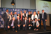 Members of the Football Federation Australia Teams of the Decades pose during the FFA Teams of the Decades announcements at Crown Towers on December 17, 2013 in Melbourne, Australia. Football Federation Australia (FFA) celebrated the heroes of yesterday by naming its Teams of the Decades in conjunction with the 50th Anniversary of FIFA Membership at a Hall of Fame function.