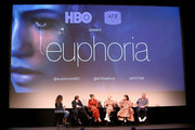 (L - R) Sonia Saraiya, Sam Levinson, Zendaya, Hunter Schafer, Barbie Ferreira and Eric Dane attend the premiere of HBO's Euphoria during the ATX Television Festival at the Paramount Theatre on May 6, 2019 in Austin, Texas.