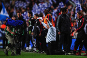 Avram Grant manager of Chelsea celebrates victory following the UEFA Champions League Semi Final 2nd leg match between Chelsea and Liverpool at Stamford Bridge on April 30, 2008 in London, England.