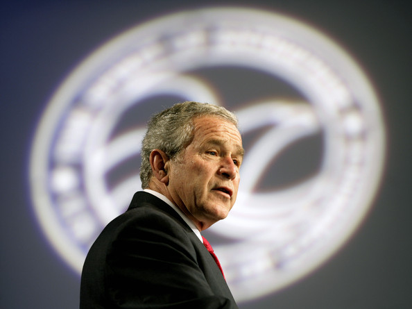 (FILE) Former US President George W Bush Publishes His New Book