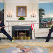 Michelle Obama is an intimidating tug-of-war opponent.