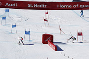 Petra Vlhova of Slovakia wins the silver medal, Tessa Worley of France wins the gold medal during the FIS Alpine Ski World Championships Nation Team Event on February 14, 2017 in St. Moritz, Switzerland