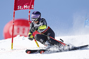 Tessa Worley of France wins the gold medal during the FIS Alpine Ski World Championships Nation Team Event on February 14, 2017 in St. Moritz, Switzerland