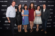 (L-R) Marc Murphy, Christina Grdovic, Barbara Banke, Julia Jackson, Nilou Motamed and Tom Colicchio attend FOOD & WINE 2016 Best New Chefs event on April 5, 2016 in New York City.