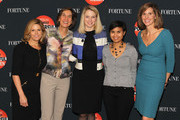 (L-R) Nina Easton, Pattie Sellers, Marissa Mayer, Stephanie Mehta and Leigh Gallagher attend the FORTUNE Most Powerful Women Summit on October 17, 2013 in Washington, DC.