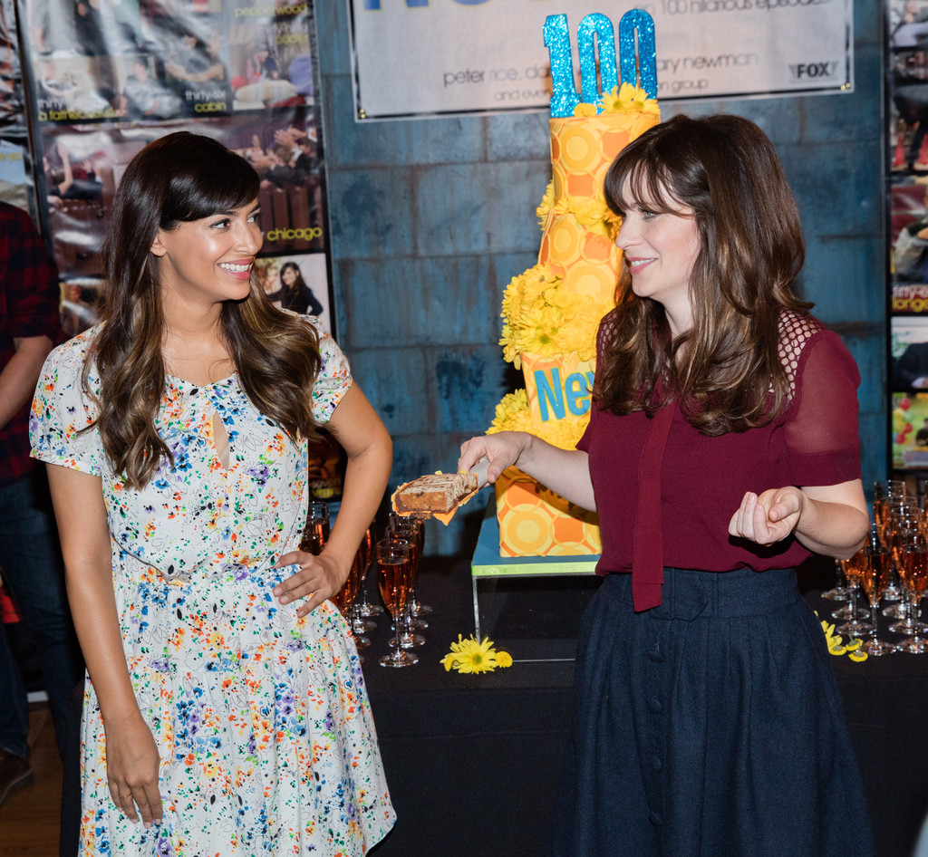 The Cast of 'New Girl' Celebrated Their 100th Episode with a Daisy Cake