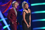 Redmond Gerard (L) and Chloe Kim speak onstage during FOX's Teen Choice Awards at The Forum on August 12, 2018 in Inglewood, California.