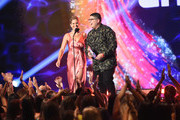 Candace Cameron-Bure (L) and Rico Rodriguez speak onstage during FOX's Teen Choice Awards at The Forum on August 12, 2018 in Inglewood, California.