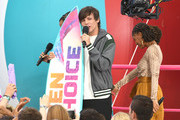 Louis Tomlinson accepts Choice Song: Male Artist for 'Two of Us' onstage during FOX's Teen Choice Awards 2019 on August 11, 2019 in Hermosa Beach, California.