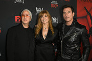 "(L-R) Ryan Murphy, Connie Britton, and Dylan McDermott attend FX's ""American Horror Story"" 100th Episode Celebration at Hollywood Forever on October 26, 2019 in Hollywood, California."