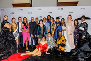 """(L-R) Jason A. Rodriguez, Indya Moore, Eric Schrier, Janet Mock, Brad Simpson, Dyllón Burnside, Alexis Martin Woodall, Steven Canals, Hailie Sahar, Dominique Jackson, Angel Bismark Curiel, Mj Rodriguez, Ryan Jamaal Swain, guest, Angelica Ross, Our Lady J, Sherry Marsh and Billy Porter attend the FX Network's """"Pose"""" Season 2 Premiere on June 05, 2019 in New York City."""