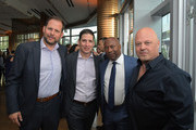 (L-R)  FX president of original programming Nick Grad, FX president of original programming Eric Schrier, John Singleton and Michael Chiklis attend FX Networks celebration of their Emmy nominees in partnership with Vanity Fair at Craft on September 16, 2017 in Century City, California.