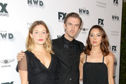 (L-R) Rachel Keller, Dan Stevens and Aubrey Plaza attend FX Networks celebration of their Emmy nominees in partnership with Vanity Fair at Craft on September 16, 2017 in Century City, California.