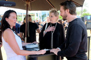 Actors Jean Smart and Dan Stevens attend FX Networks' FXHibition during 2017 San Diego Comic Con at  Hilton Bayfront  on July 21, 2017 in San Diego, California.