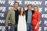 (L-R) Actors John Corbett, Elizabeth Gillies, Denis Leary and Elaine Hendrix attend the FX Networks TCA 2016 Summer Press Tour on August 9, 2016 in Beverly Hills, California.