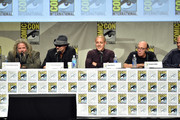 (L-R) Actors Mark Boone Junior, Tommy Flanagan, Theo Rossi and Dayton Callie attend FX's 'Sons of Anarchy' panel during Comic-Con International 2014 at San Diego Convention Center on July 27, 2014 in San Diego, California.