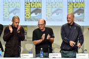 Actors heo Rossi, Dayton Callie and David Labrava attend FX's 'Sons of Anarchy' panel during Comic-Con International 2014 at San Diego Convention Center on July 27, 2014 in San Diego, California.