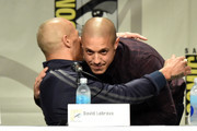 Actors  David Labrava and Theo Rossi attend FX's 'Sons of Anarchy' panel during Comic-Con International 2014 at San Diego Convention Center on July 27, 2014 in San Diego, California.