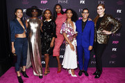 """(L-R) Indya Moore, Billy Porter, Janet Mock, Dominique Jackson, Mj Rodriguez, Steven Canals and Our Lady J attend the FYC Event for FX'x """"Pose"""" at the Hollywood Athletic Club on June 01, 2019 in Hollywood, California."""