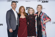 "(L-R) Eric Bana, Connie Britton, Julia Garner and Jean Smart attend the FYC red carpet of Bravo's ""Dirty John"" at Saban Media Center on May 02, 2019 in North Hollywood, California."