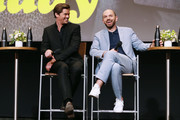 """Andrew Rannells and Paul Scheer during the panel discussion at the FYC Red Carpet Event For Showtimes' """"Black Monday"""" at Saban Media Center on May 14, 2019 in North Hollywood, California."""