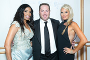 """Actress Areva Martin, Writer Jay McGraw and wife Erica Dahm attend the Face Forward's 10th Annual """"La Dolce Vita"""" Themed Gala at the Beverly Wilshire Four Seasons Hotel on September 22, 2018 in Beverly Hills, California."""
