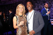 Rachel Riley and Simon Webbe at the inaugural Facebook Football Awards on May 26, 2015 in London, England.