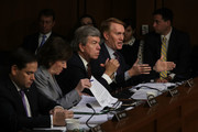 """(R-L) U.S. Sen. James Lankford (R-OK) speaks as Sen. Roy Blunt (R-MO), Sen. Susan Collins (R-ME) and Sen. Marco Rubio (R-FL) listen during a hearing before the Senate (Select) Intelligence Committee November 1, 2017 on Capitol Hill in Washington, DC. The committee held a hearing on """"Social Media Influence in the 2016 U.S. Elections."""""""