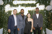 "(L-R) Actors Zack Robidas, Jovan Adepo, Kelly Marie Tran, and Mamoudou Athie attend the Facebook Watch ""Sorry For Your Loss"" S2 Premiere at NeueHouse Hollywood on October 1, 2019 in Los Angeles, California."