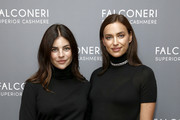 Julia Restoin Roitfeld and Irina Shayk attend as Falconeri launches in the US with store opening at 101 Prince Street on October 16, 2019 in New York City.