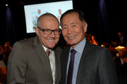 Brad Altman and actor George Takei attend Family Equality Council's annual Los Angeles awards dinner at The Globe Theatre on February 8, 2014 in Universal City, California.
