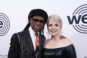 NIle Rodgers and Nancy Hunt attends We Are Family Foundation honors Dolly Parton & Jean Paul Gaultier at Hammerstein Ballroom on November 05, 2019 in New York City.