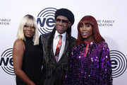 Alfa Anderson, Nile Rodgers and Folami attend We Are Family Foundation honors Dolly Parton & Jean Paul Gaultier at Hammerstein Ballroom on November 05, 2019 in New York City.