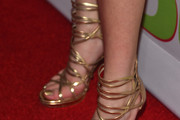 "Actress Bella Thorne (shoe detail) attends a Fan Screening of CBS Films' ""The Duff"" at the TCL Chinese 6 Theatres on February 12, 2015 in Hollywood, California."