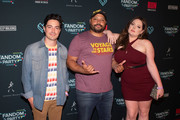 Ben Feldman, Colton Dunn and Lauren Ash attend the Fandom Party at SDCC 2019 featuring R.U.N - the first live-action thriller by Cirque du Soleil at Float at Hard Rock Hotel San Diego on July 18, 2019 in San Diego, California.